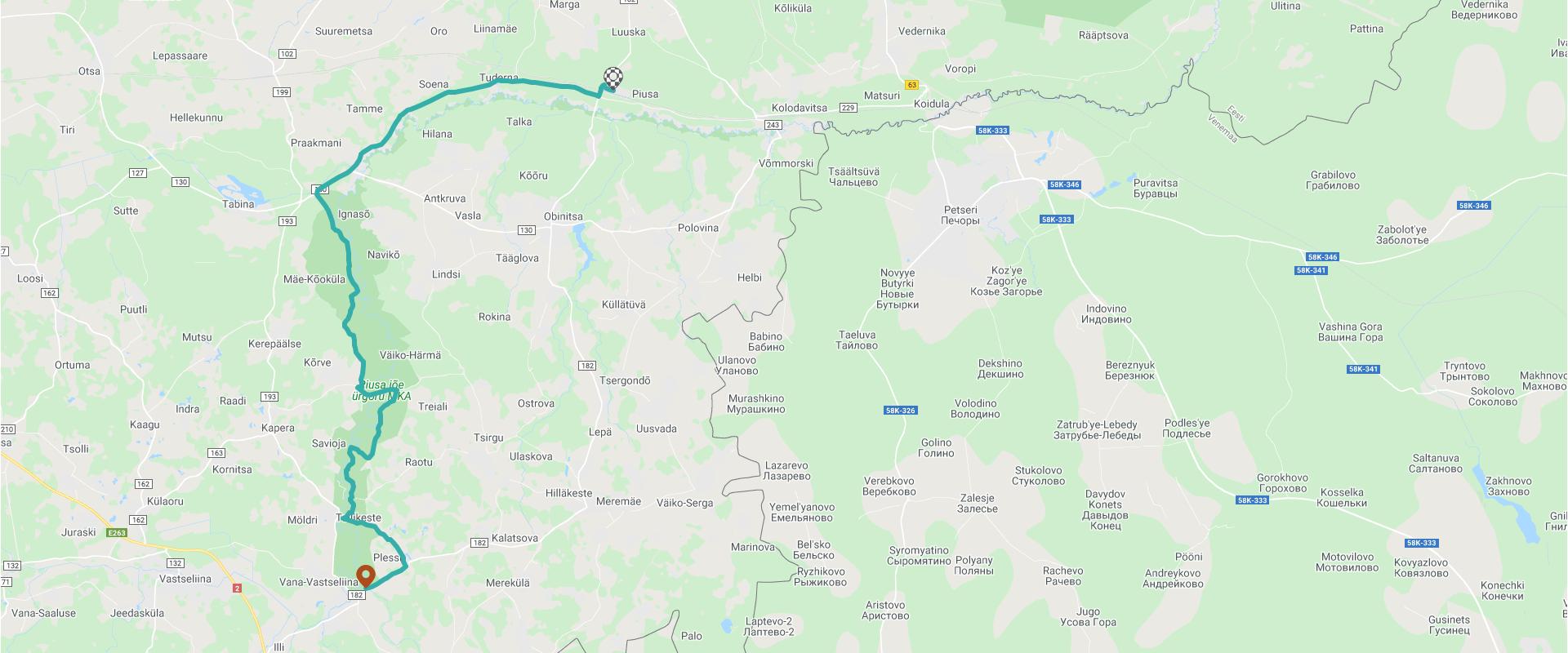 Skatīt maršrutu kartē