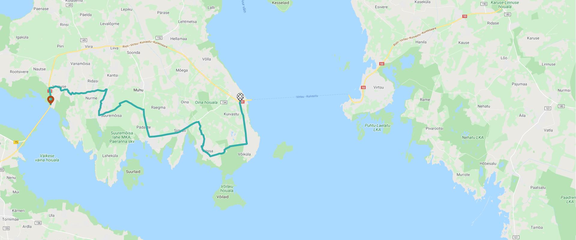 Klick auf der Karte um die Route zu sehen