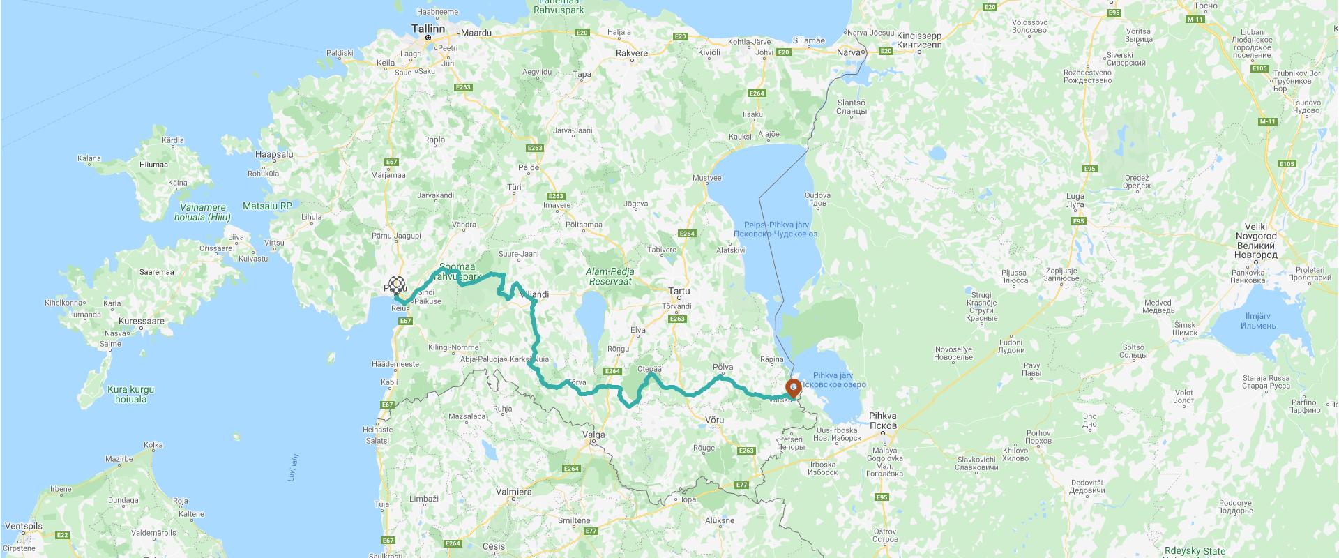 Kliki ja vaata rattateed kaardil